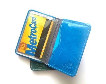 Credit Card Wallet, Credit Card Holder, Metro Card Case, Gift For Him, Gift For Her - in COBALT BLUE (No.1414)