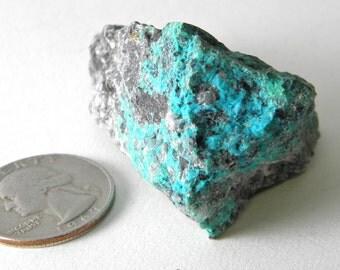 Arizona chrysocolla stone, Chrysocolla lapidary rough, mineral specimen, cabinet specimen,  #001