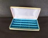 Vintage Jewelry Box, Vintage Jewelry Case, Travel Jewelry Case, Mele Jewelry Box, Jewelry Storage
