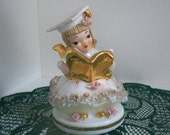 "Vintage Collectible Figurine Lefton China ""Betty Co-Ed"" Graduating Angel Made in Japan"