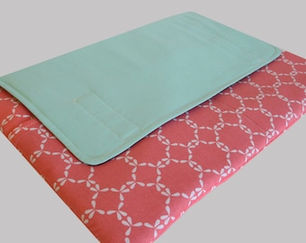 Laptop Sleeve, Tablet Case, Laptop Cover, Tablet Sleeve, Laptop Case, Tablet Cover, up to 13 Inch - Mint Coral