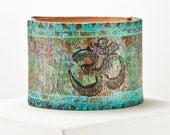 Yoga Bracelet Om Jewelry - Turquoise Dream Wanderlust Accents - 2016 Favorite Admired Treasury Finds - For Spiritual Goddess Warrior Women