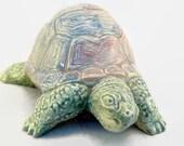 """Ceramic Box Turtle """"Almost Home"""""""