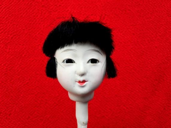 Japanese Doll Head Hina Matsuri Girl D5-10 Hina Ningyo