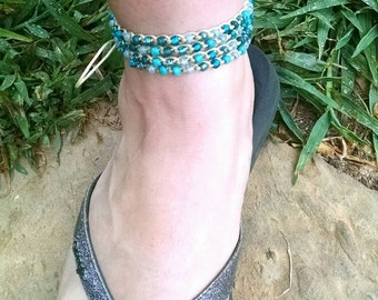 Simple Wrap Anklet and Bracelet custom order color and length options