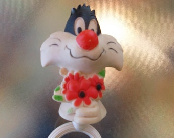 1973 Sylvester the Cat Looney Tunes Warner Brothers Baby Rattle
