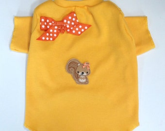 Aww Nuts Squirrel Dog TShirt Clothes Size XXXS through Medium by Doogie Couture