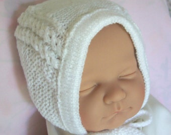 Custom handmade  knit  Princess Charlotte Inspired White Hat Bonnet Cap for baby or reborn doll  -Cute baby gift-Photo prop