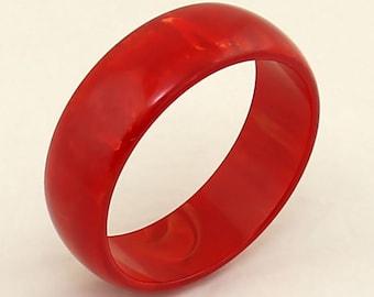 Bakelite Red Marbleized Bangle #1
