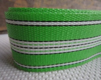 Bright Green White Lawn Furniture Webbing Weatherproof Plastic