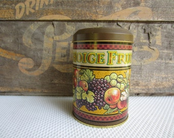 Vintage Harrisons Choice Fruits Tin made in England