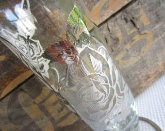 Vintage Vase Sterling Silver Rose Overlay Vase Elegant Wedding Gift