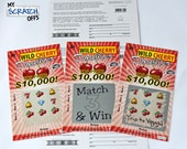 Scratch Off DIY Lotto Replica Card (1 card) Scratch-Off Ticket Do-It-Yourself Kit Create Your Own Scratch Off Ticket