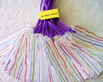 36 WEDDING Wish Tree Tags- Escort Cards - Purple Squiggles