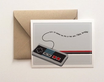 Still Awesome Birthday Card - Video Game