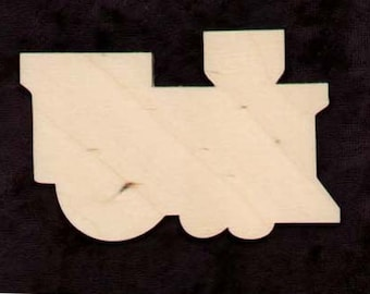 TRAIN shape Natural Craft Wood Cutout 422