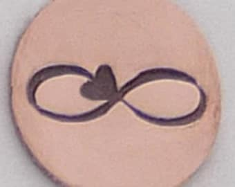 Infinity with Heart 8mm x 2.5 mm Metal Stamp - Handstamping Metal Jewelry Tool The Urban Beader