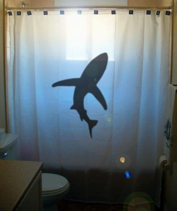 shark shower curtain kids bathroom decor bath curtains