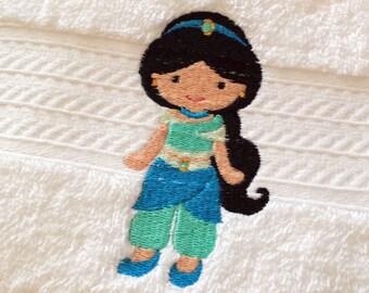 Princess Jasmine Inspired Bath Towel