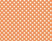 Orange Small Dots Fabric from Riley Blake Designs - by the Yard - 1 Yard - Polka Dots