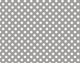 Gray Small Dots Fabric from Riley Blake Designs - Grey Dots - by the Yard - 1 Yard - C350-40