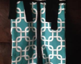 Diaper stacker teal black gray baby boy