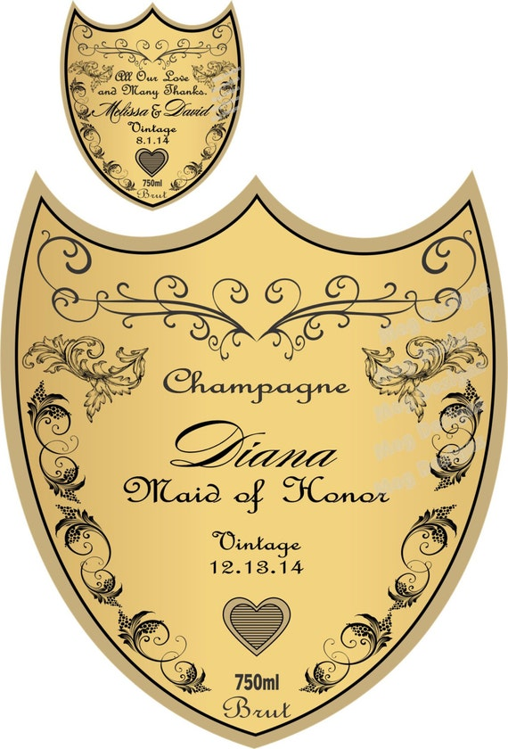 personalized bridesmaid champagne labels bridesmaid gifts will