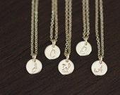 bridesmaids necklace, gold bridesmaids necklace, initial necklace, tiny bridesmaids necklace set bridesmaids gift wedding necklace, monogram