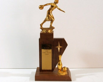 Vintage Bowling Trophy, 1959, Womens First Place Team