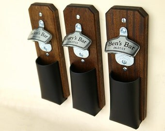 Personalized Cap Catcher Bottle Opener Groomsmen Gift