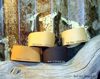 Earth Leather Color - Pack of 3 Cuffs - Leather Supply - Leather Cuff - Leather Bracelet -Leather Supply Cuffs - Brown Cuff - Tan Bracelet