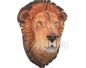 Lifelike Leon Jr - Medium Cardboard Lion Head