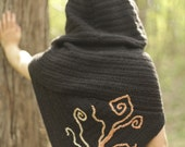 Tree of Life Faerie Shawl with Hood