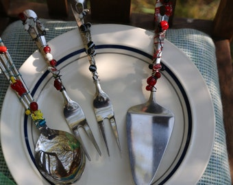 Beaded Serving Utensils