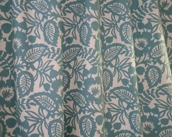 RTS unlined curtains ( two 50W x 72L panels ) Waverly Esmee robins egg  blue, ivory