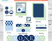 Sailing First Birthday or Any Age! - Printable Party Package