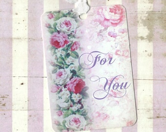 Gift Tags, Roses, Vintage Style, For You, Best Wishes