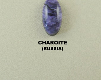 Charoite Ring Size Oval Designer Cabochon for Jewelry Artisans.