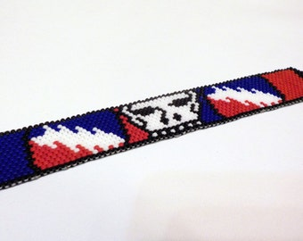 Grateful Dead inspired  / Steal Your Bracelet / peyote stitch