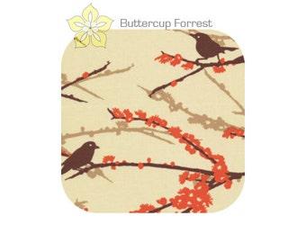 Changing Pad Cover { Aviary 2 Bark Sparrow } cream orange brown tan Joel Dewberry