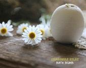 Organic Chamomile Bath bomb - VEGAN Fizzy - Earth friendly natural aroma