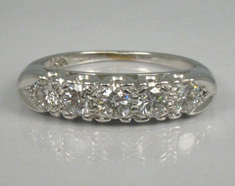 Fine Vintage Diamond Wedding Ring - 0.50 Carats - Appraisal Included