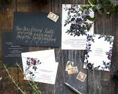 Printable Flora Detail Card or Rehearsal Dinner Invitation