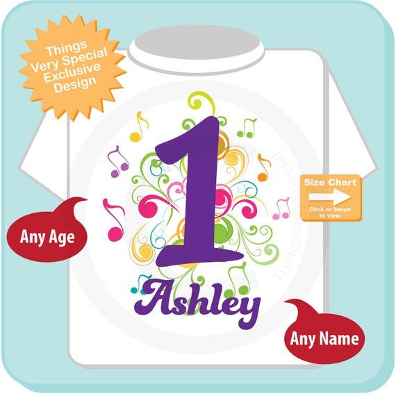 Music Themed First Birthday Shirt Number 1 Onesie
