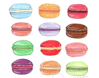 Macaron Day Illustration Art Print
