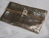 Small Whiting Davis Silver Mesh purse
