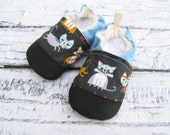 Organic Vegan Cool Cat / non-slip soft sole shoes / made to order / babies toddlers preschool