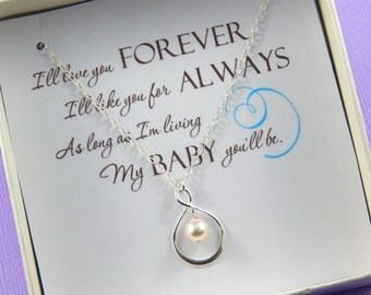 Daughter Necklace Gift, Bride Necklace, Daughter Gift Box Necklace, Wedding gift for Daughter, Daughter Appreciation Gift, Graduation Gift