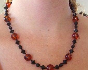 Art Deco Style Bead Necklace