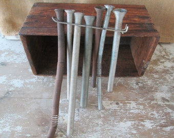 Metal Lot of Pipe Benders,Metal Coils,Industrial Shop Tool, Mesh Tool,Plumbers Tool,Metal Art,Steampunk,Vintage Auto,Mechanics,Shop Props